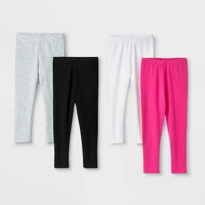 Toddler Girls' 4pk Long Leggings - Cat & Jack™ Black/Gray/Pink