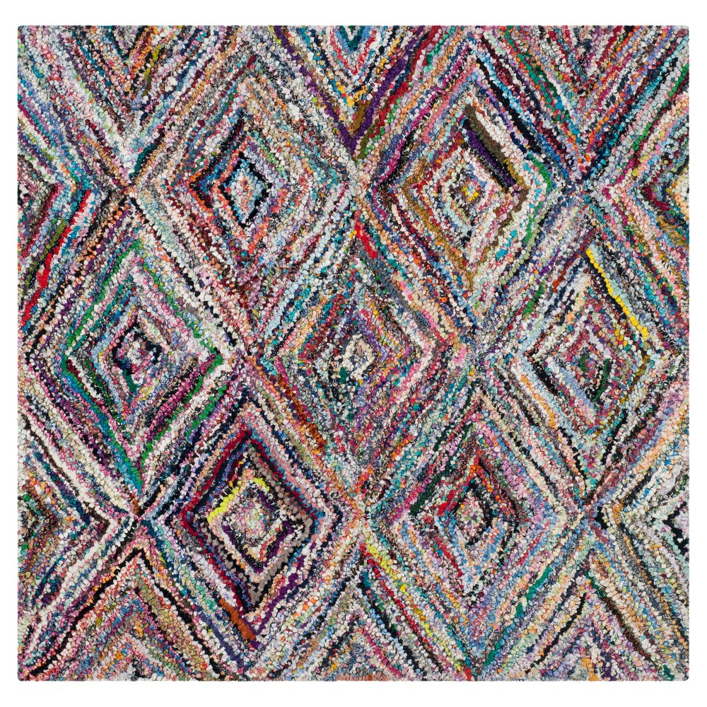 Multi-Colored Abstract Tufted Square Accent Rug - (4'x4') - Safavieh, Multicolored