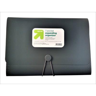 7 Pocket Expandable File Folder Letter Size Black - up & up™