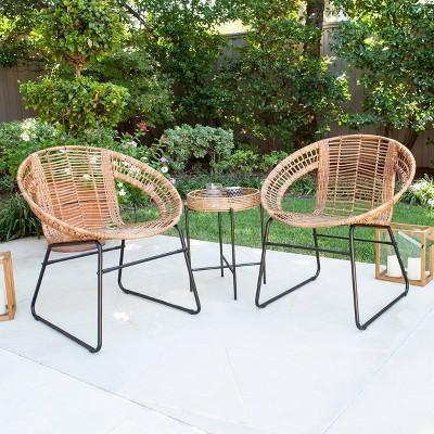 Alaneace 3pc Outdoor Patio Bistro Set - Aiden Lane