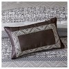 7pc Harmony Jacquard Comforter Set Gray/Taupe - image 4 of 4