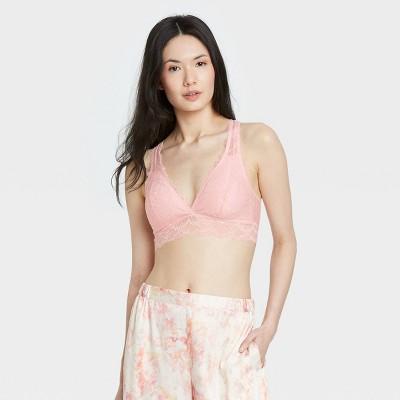 Women's Lace Removable Pad Bralette - Auden™ Pink M