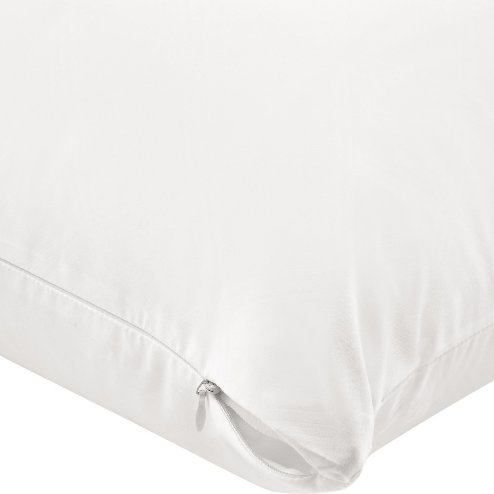 Image of AllerEase Zippered Bed Bug Pillow Protector -White (Standard/Queen)