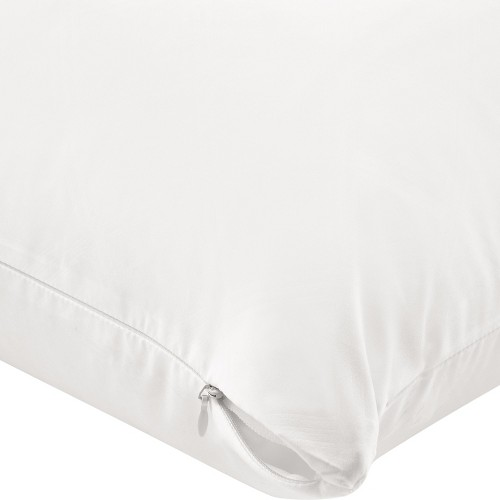 AllerEase Zippered Bed Bug Pillow Protector -White (Standard/Queen)