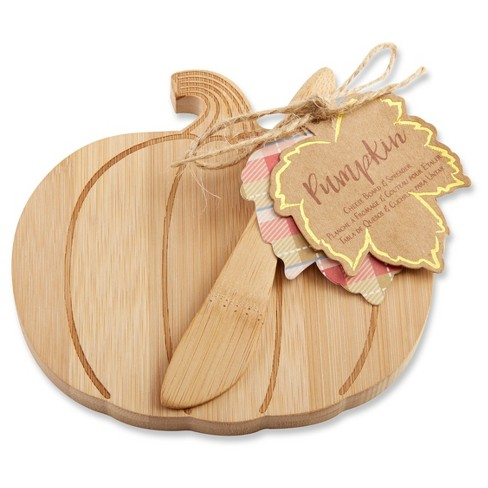 6ct Kate Aspen Brown Pumpkin Cheeseboard - image 1 of 1