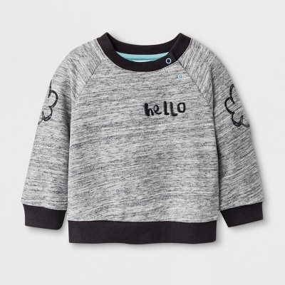 Baby Boys' Lightweight Sweatshirt - Cat & Jack™ Gray 0-3M