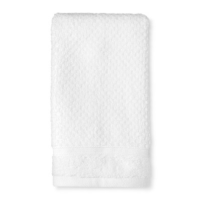 Hand Towel Performance Texture Bath Towels And Washcloths True White - Threshold™