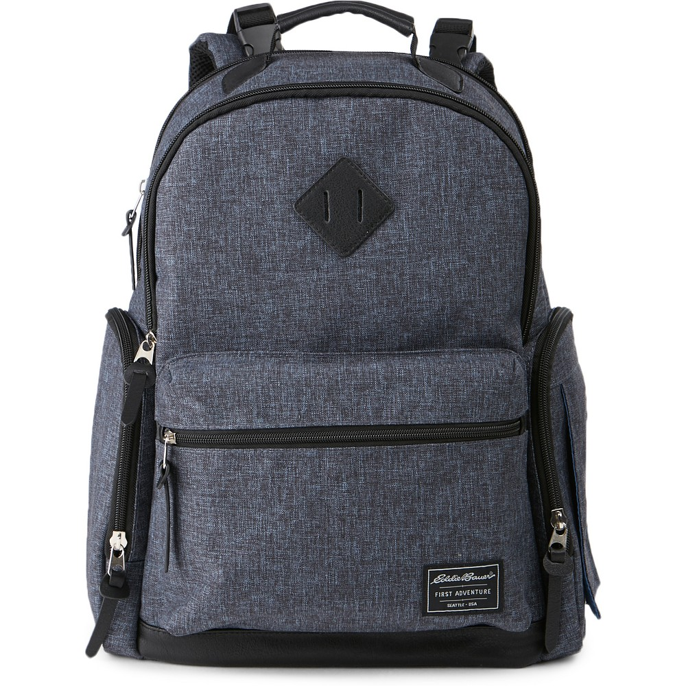 Image of Eddie Bauer Bridgeport Places & Spaces Back Pack Diaper Bag - Navy, Gray