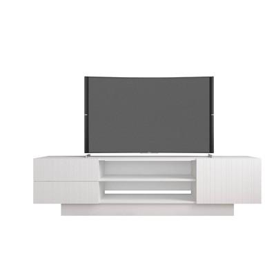"""72"""" Marble TV Stand Gray - Nexera"""