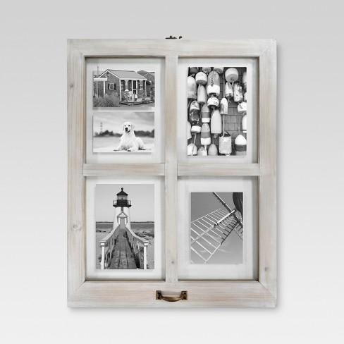 4 Opening Windowpane Frame - White Wash : Target