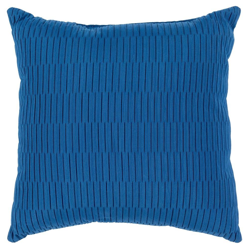 Gordon Outdoor Pillow- Sky Blue- Surya, Yellow