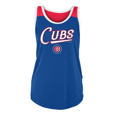 MLB Chicago Cubs Women's Poly Rayon Tank Top - M