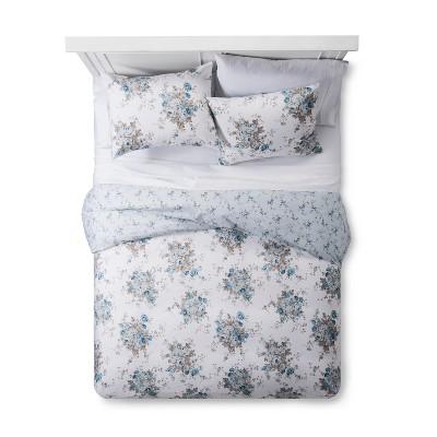 Aqua Rose Floral Duvet & Sham Set (King)- Simply Shabby Chic®