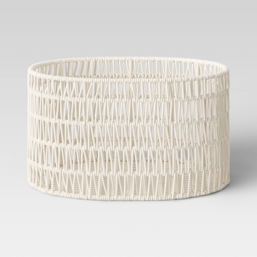 21 34 X 16 34 X 11 34 Oval Rope Basket Cream Project 62 8482