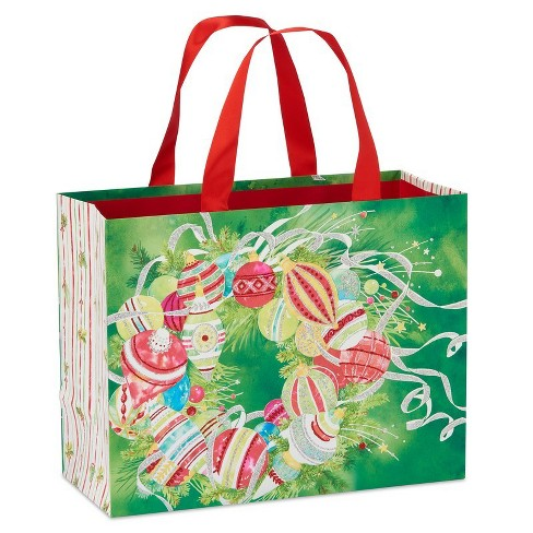 Papyrus Pattern Ornaments On Wreath Large Gift Bag - image 1 of 4