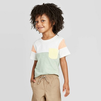 Toddler Boys' Athletic T-Shirt - Cat & Jack™ Green/Cream 12M