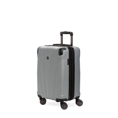 "SWISSGEAR 20"" Cascade Hardside Carry On Suitcase - Silver"