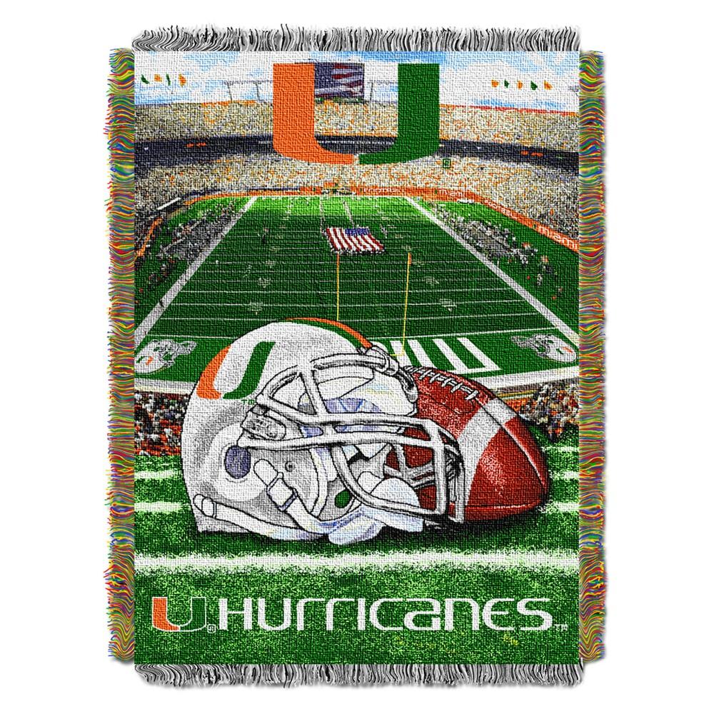 NCAA Northwest Tapestry Throw Blanket Miami Hurricanes - 48 x 60