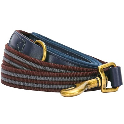 Blueberry Pet Polyester and Leather Dog Leash