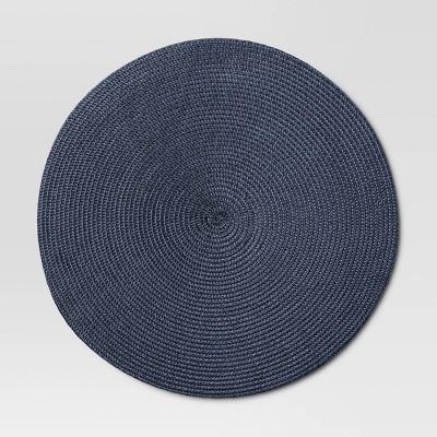 Polyround Charger Placemat Dark Blue - Threshold™
