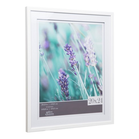 Single Image 20x24 Wide Double Mat White 16x20 Frame Gallery