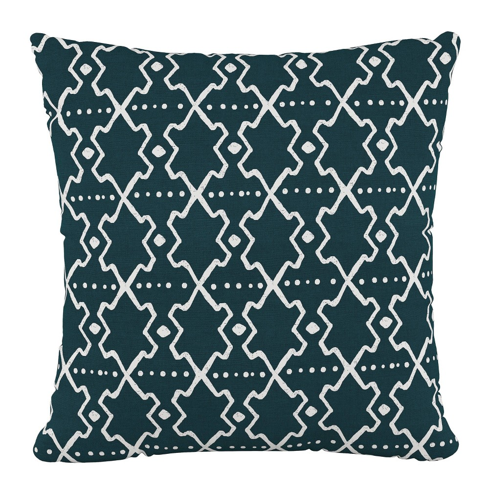 """Image of """"18""""""""x18"""""""" Polyester Pillow in Mud Cloth Turquoise - Cloth & Company"""""""