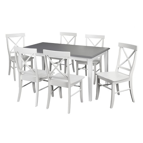 Helena Dining Set White/Gray 7 Piece - TMS - image 1 of 2