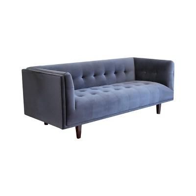 Marvelous Boston Chesterfield Velvet Sofa Charcoal Gray Abbyson Uwap Interior Chair Design Uwaporg