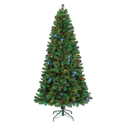 philips 7ft prelit artificial christmas tree alberta spruce bicolor led lights 6 color effects