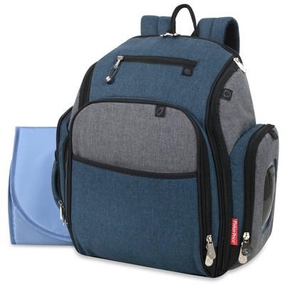 Fisher-Price Kaden Backpack Diaper Bag - Blue/Gray