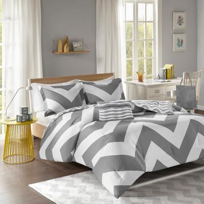Leo Comforter Set (King/California King)4pc - Gray