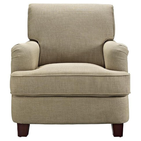 London Arm Linen Club Chair with Nailheads - Dorel Living® - image 1 of 4