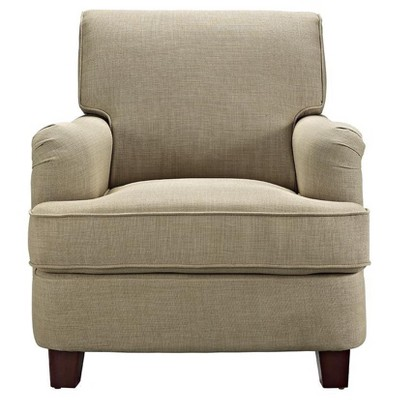 London Arm Linen Club Chair With Nailheads   Dorel Living®
