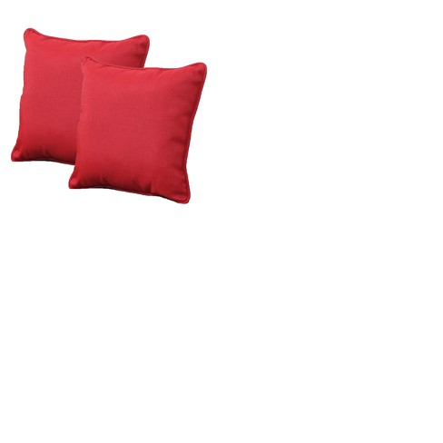 Rolston Outdoor set of 2 Accent Pillow - Red - Threshold™ - image 1 of 1