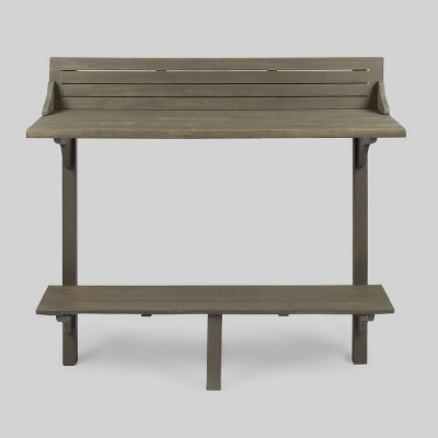 Delicieux Caribbean Acacia Wood Balcony Bar Table   Gray   Christopher Knight Home :  Target