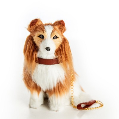 The Queen's Treasures 18 In  Doll  Collie Puppy Dog with Leash and Collar