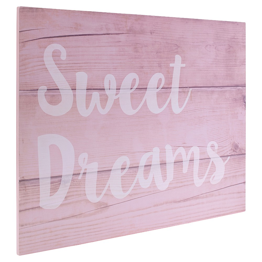 Image of NoJo Chantilly Wall Décor MDF Sweet Dreams, Pink