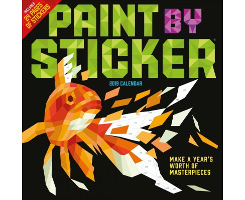 Paint by Sticker 2019 Calendar -  (Paperback) - image 1 of 1