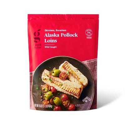 Alaska Pollock Skinless Boneless Loins - Frozen - 16oz - Good & Gather™