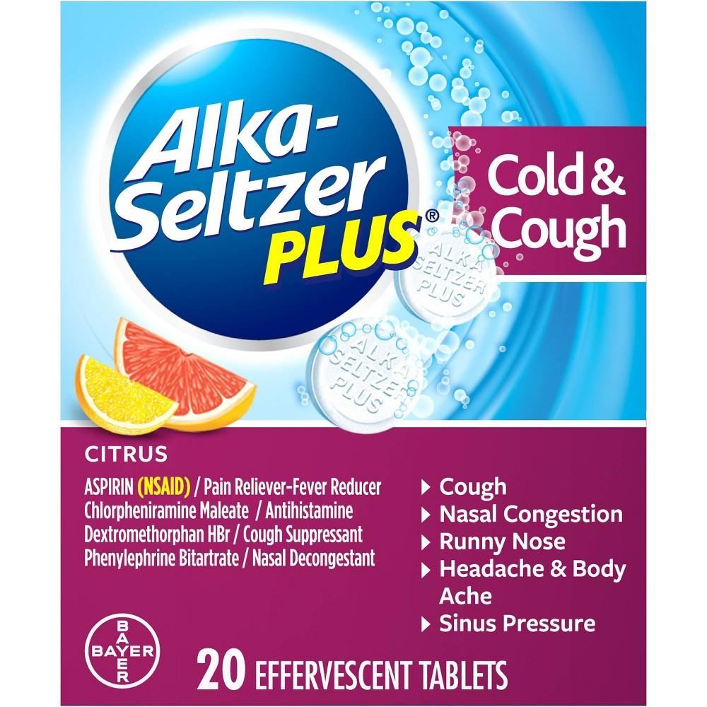 Alka-Seltzer Plus Cold Medicine, 20 Count Now $2.46 (Was $4.69)