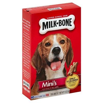 Milk-Bone Mini Biscuits Flavor Dry Dog Treats Can - 15oz