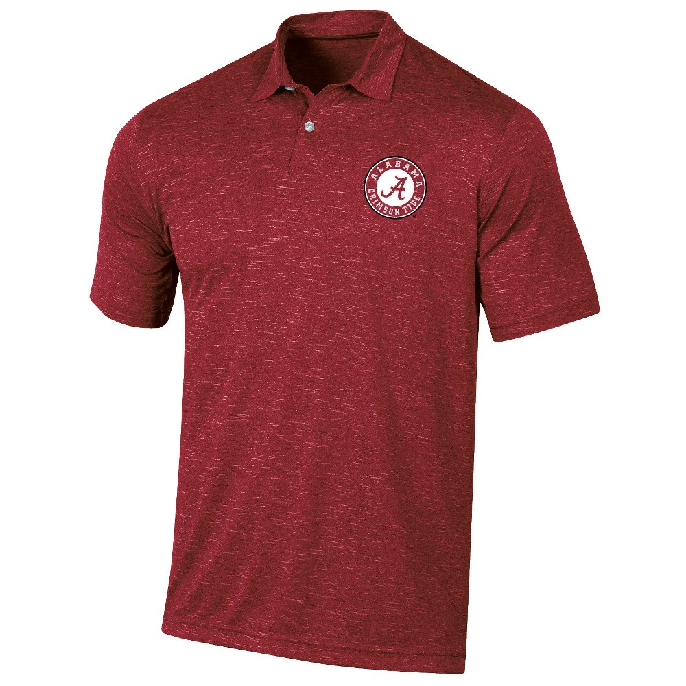 Alabama Crimson Tide Men's Short Sleeve Twisted Jersey Polo Shirt - M, Multicolored