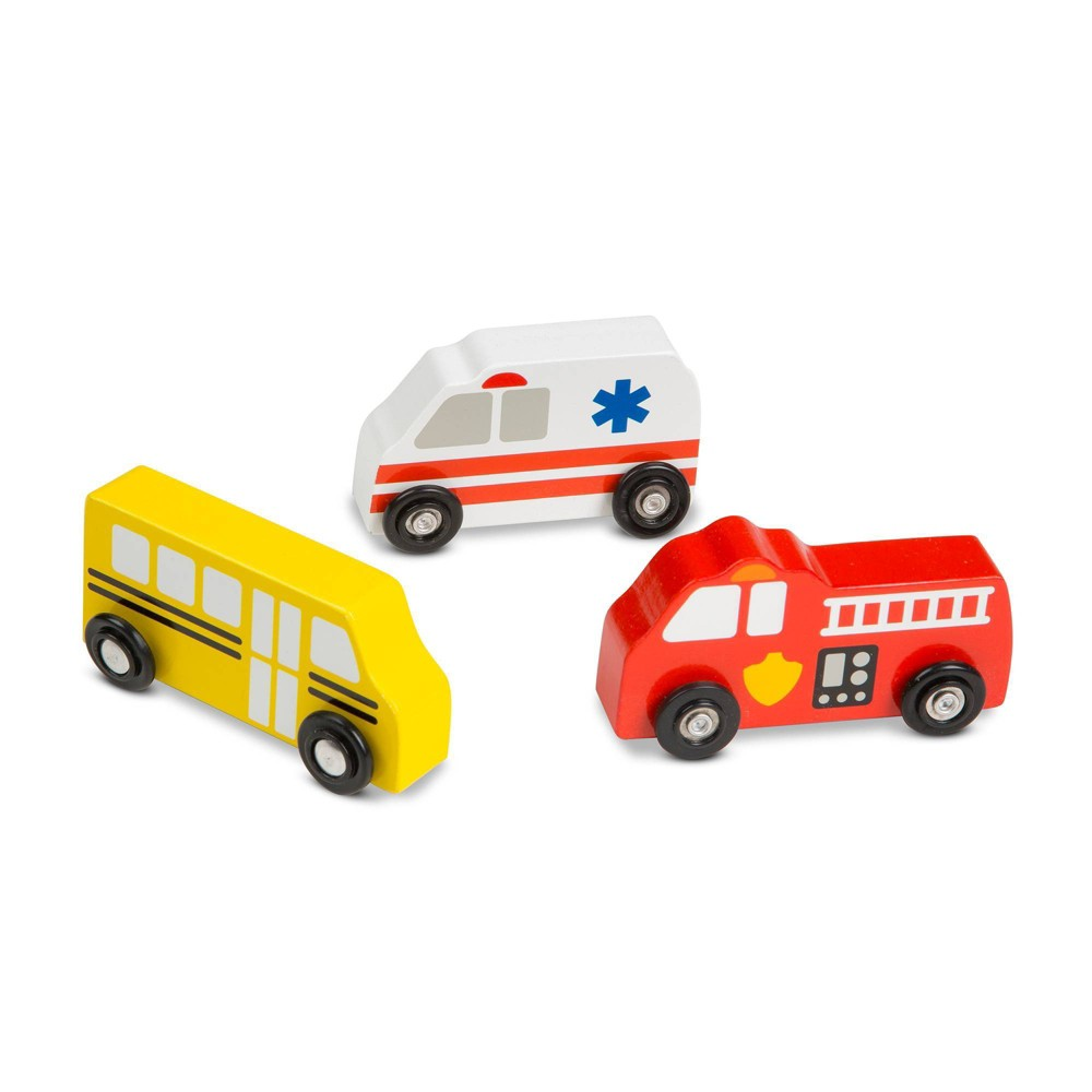 Melissa 38 Doug Wooden Town Vehicles Set