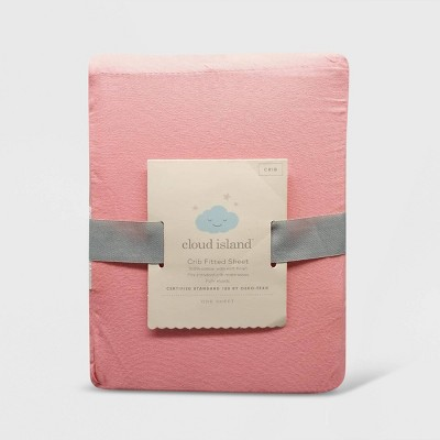 Crib Fitted Sheet Solid - Cloud Island™ Coral