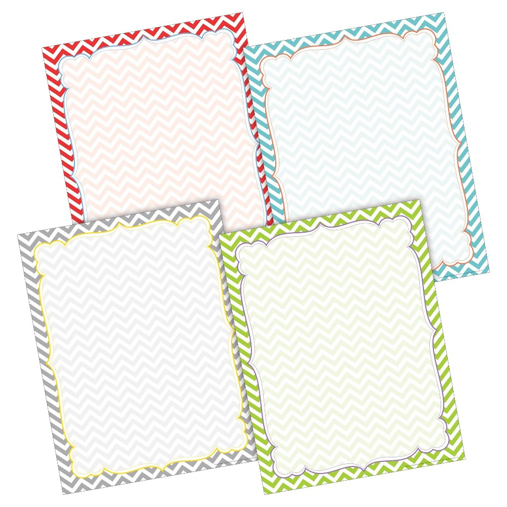Image of Barker Creek Classroom Border Chart Set 4ct - Bright Chevron