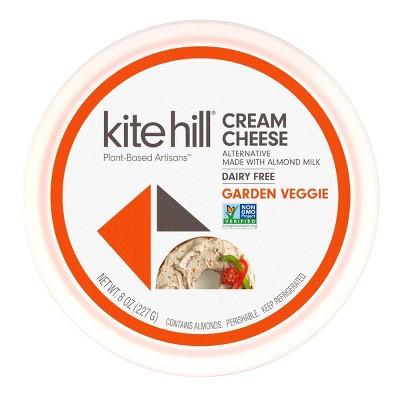 Kite Hill Cultured Almond Milk Garden Vegetable Cream Cheese - 8oz