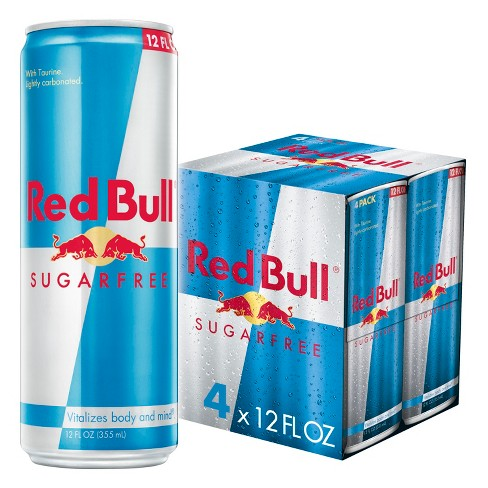 Red Bull Sugar Free Energy Drink - 4pk/12 fl oz Cans - image 1 of 3