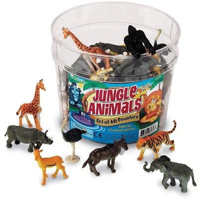 Learning Resources Jungle Animal Counters, Educational Counting and Sorting Toy, Set of 60