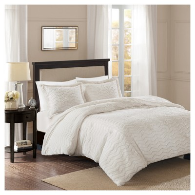 Ivory Kaplan Brushed Long Faux Fur Comforter Mini Set (Twin)