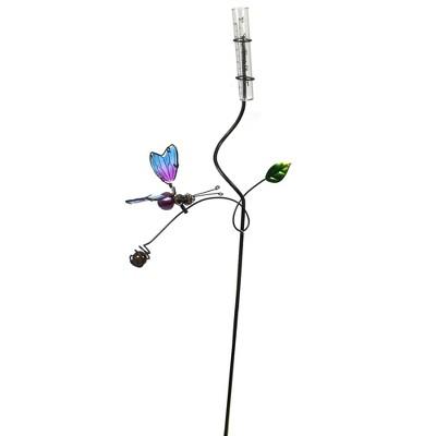 "Home & Garden 32.0"" Butterfly Rain Gauge. Measure Yard Decor Regal Art & Gift  -  Decorative Garden Stakes"